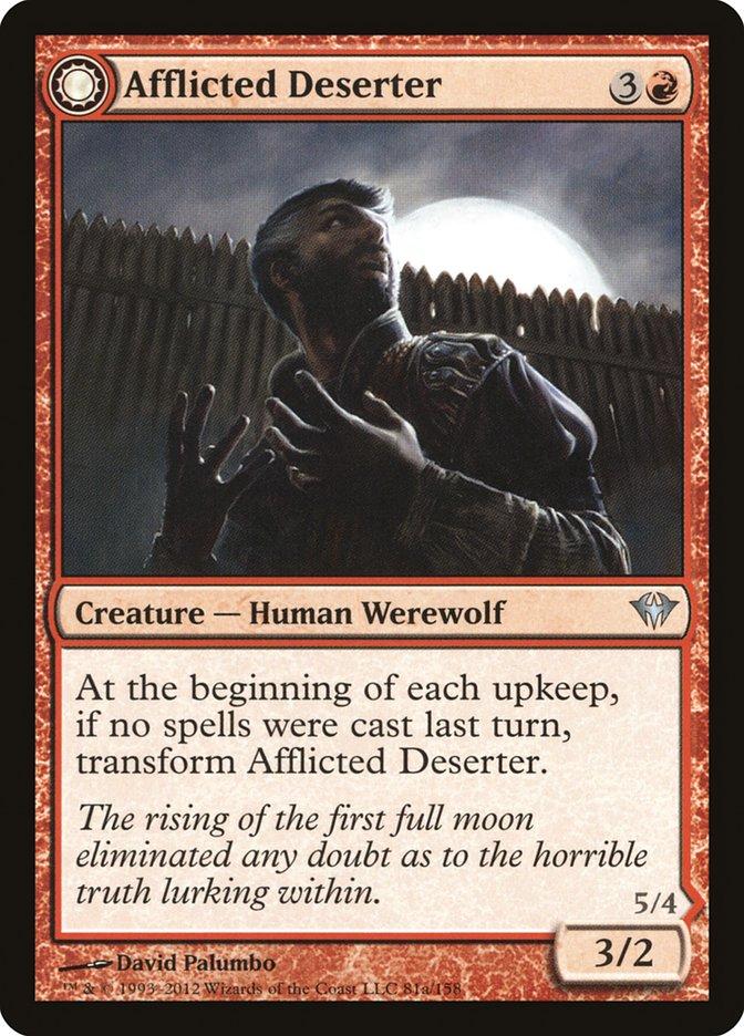 Afflicted Deserter // Werewolf Ransacker