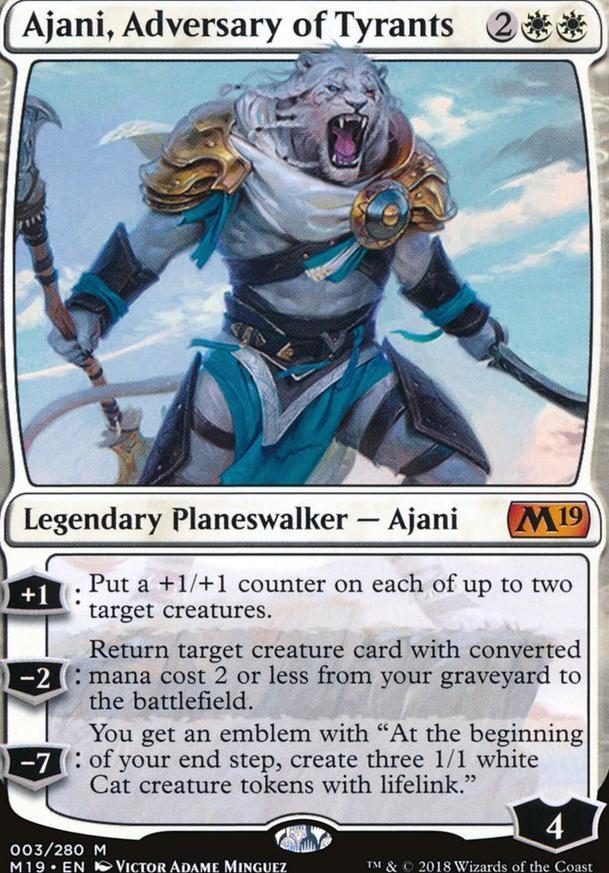 Ajani Mono White Lifegain Brawl (Brawl) — deckstats net