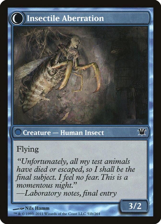 Delver of Secrets // Insectile Aberration