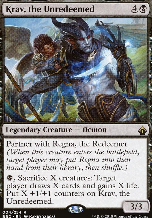 Krav and Regna Life Gain and Drain (EDH / Commander) — deckstats net