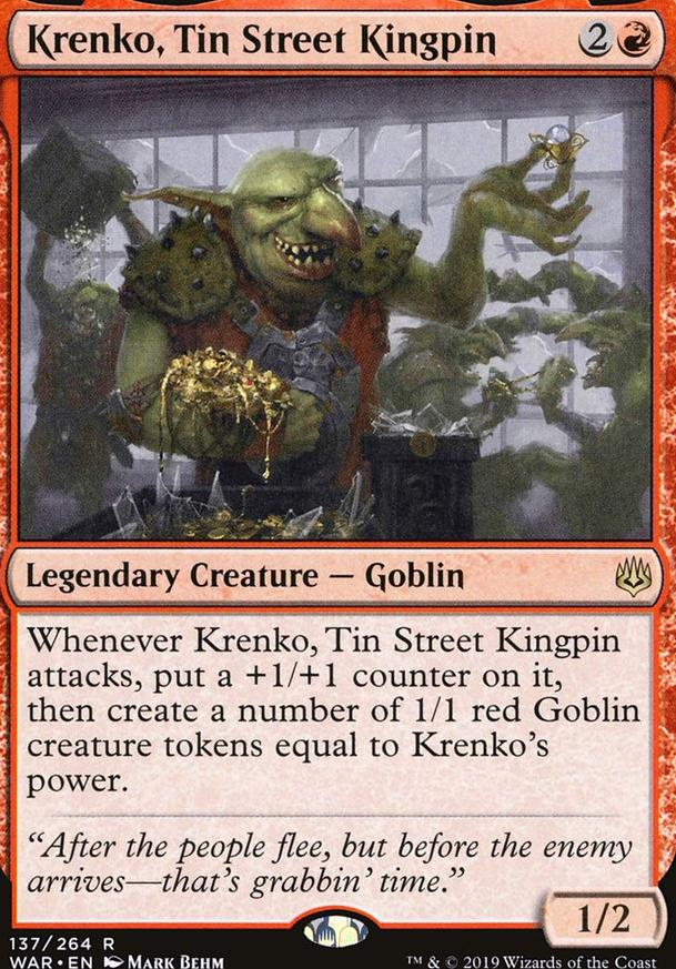 Krenko Tin Street Kingpin Goblin Tribal (EDH / Commander