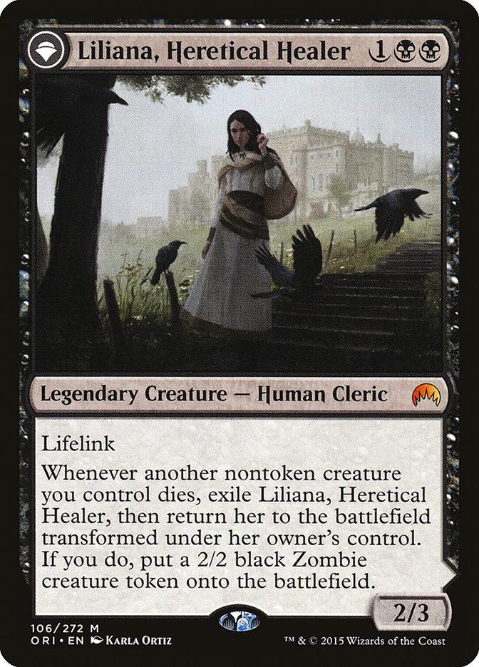 Liliana, Heretical Healer // Liliana, Defiant Necromancer