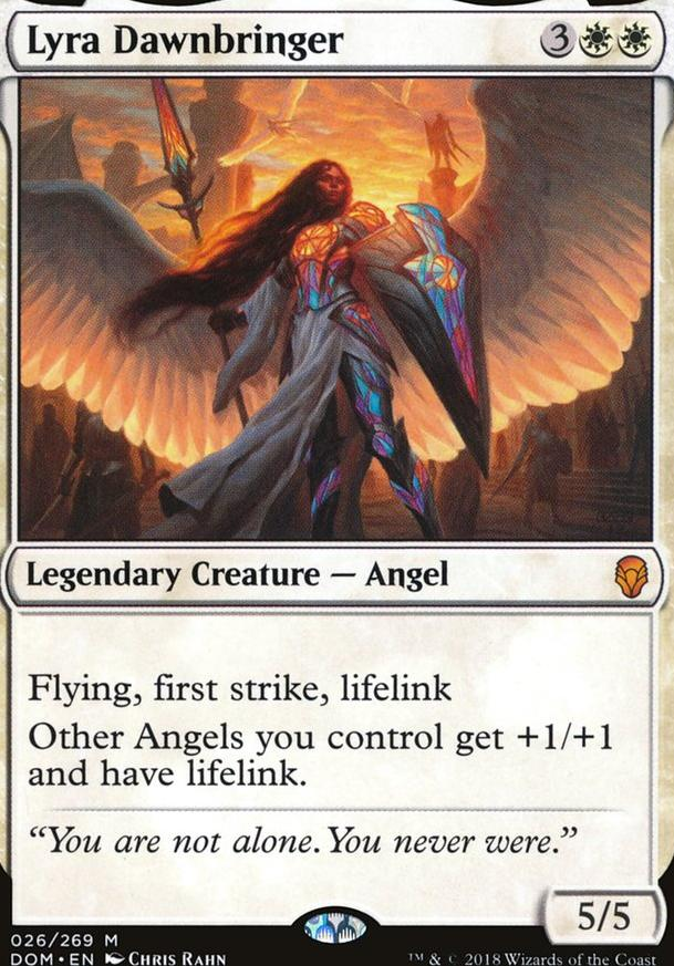 Copy of: Mono White Angel Lifegain - Lyra Dawnbringer (EDH
