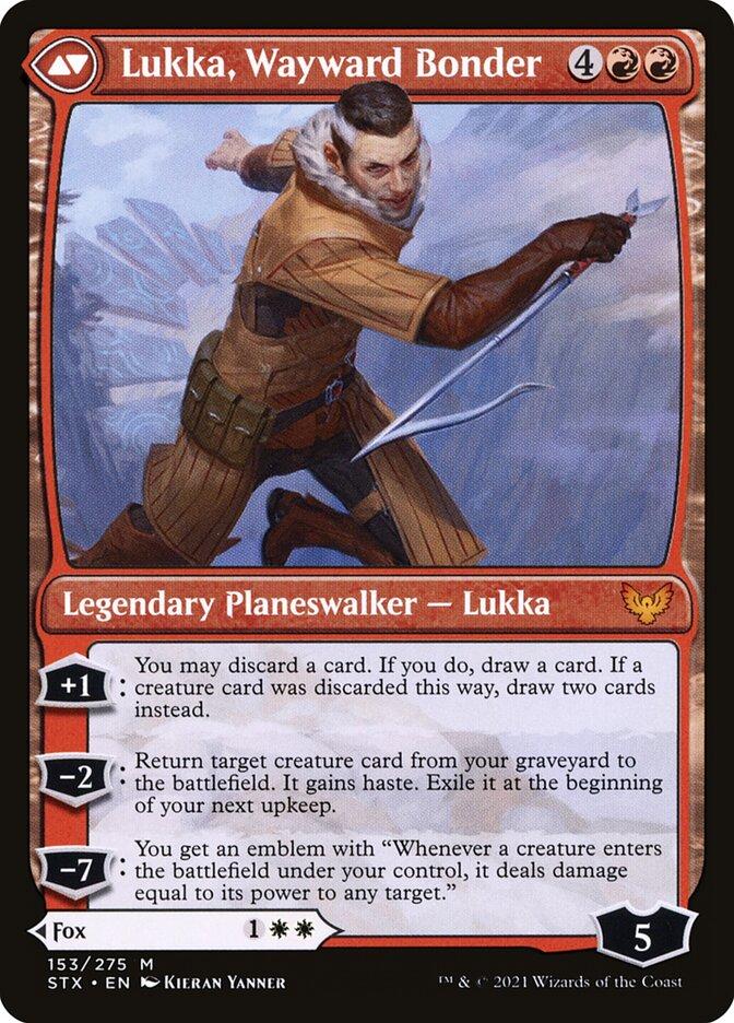 Mila, Crafty Companion // Lukka, Wayward Bonder