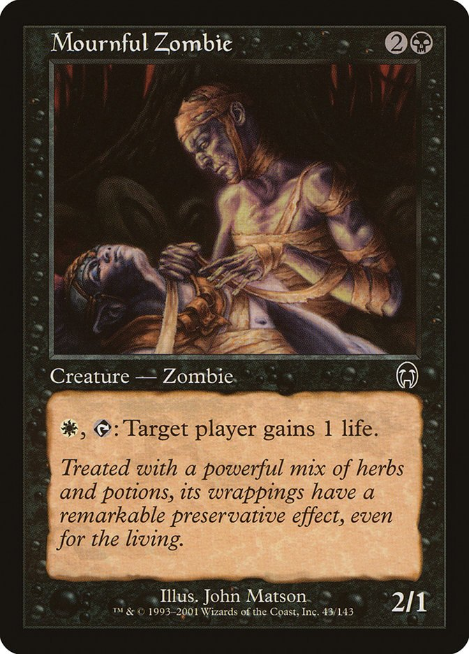 Mournful Zombie