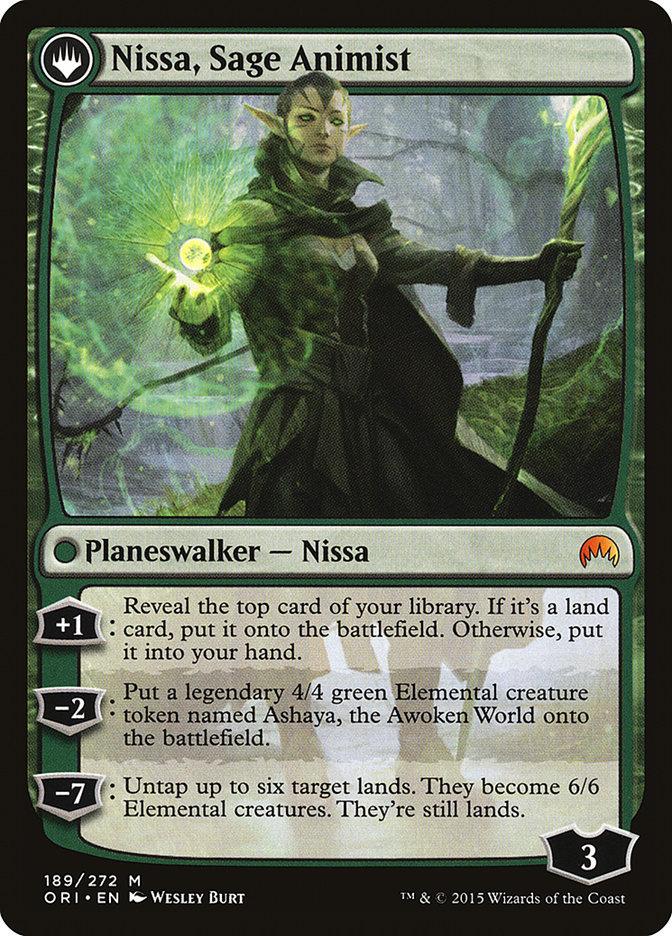 Nissa, Vastwood Seer // Nissa, Sage Animist