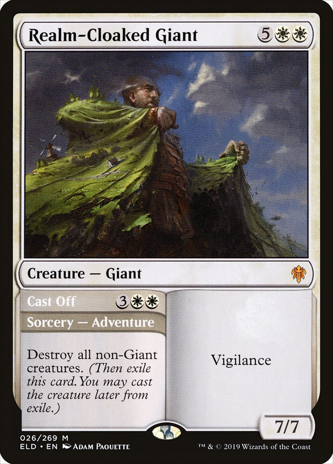 Realm-Cloaked Giant // Cast Off
