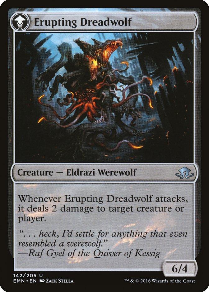 Smoldering Werewolf // Erupting Dreadwolf