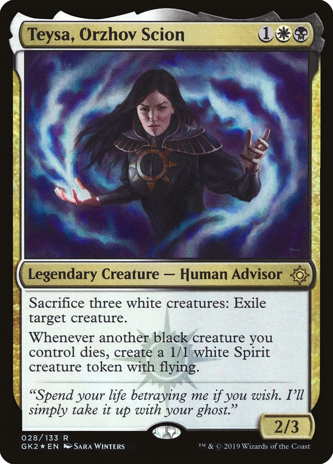 Looks Like Death Smells Like Roses Teysa Orzhov Scion Edh Commander Deckstats Net Magic The Gathering Decks We have published more than 7167 standard decks in the last 2 weeks! deckstats net