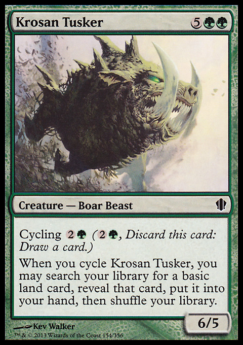 Krosan Tusker - Magic: The Gathering Card Info